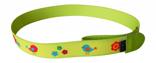 Kindergürtel ohne Schnalle Vögelchen grün von Ed & Kids