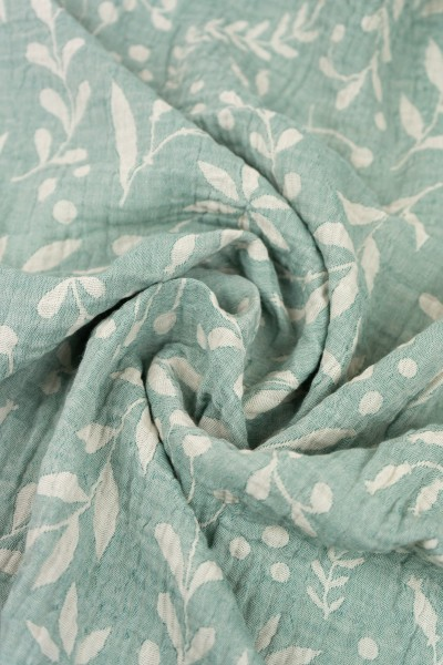 Limas Musselin Tuch Flora Mint 80x80 cm