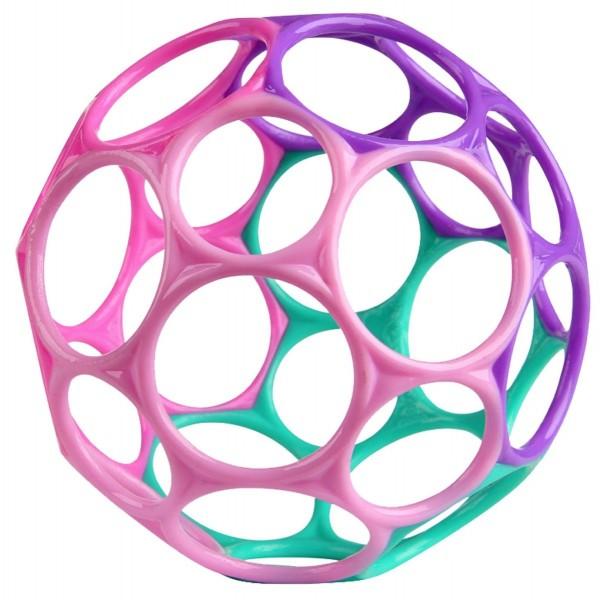 Oball lila-rosa-pink-türkis 10cm / o ball - Greifball Baby