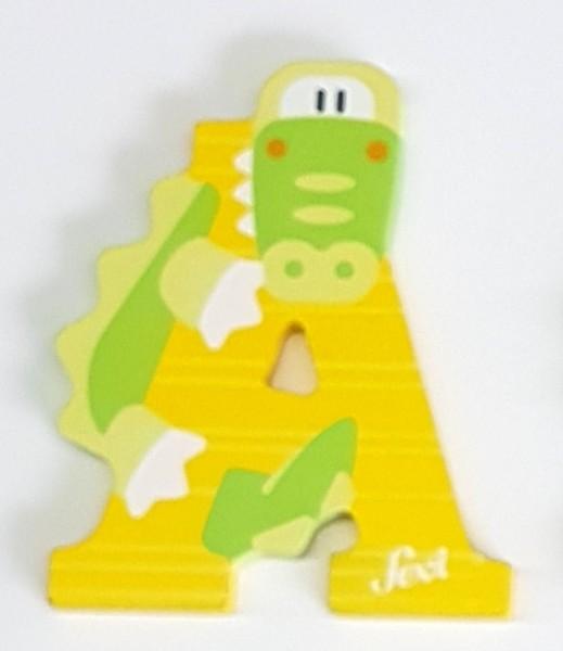 Sevi Holzbuchstabe A Alligator Tierbuchstabe pastell ...