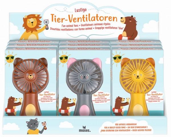 Lustiger Tier-Ventilator (1 Stück sortiert) - moses Verlag