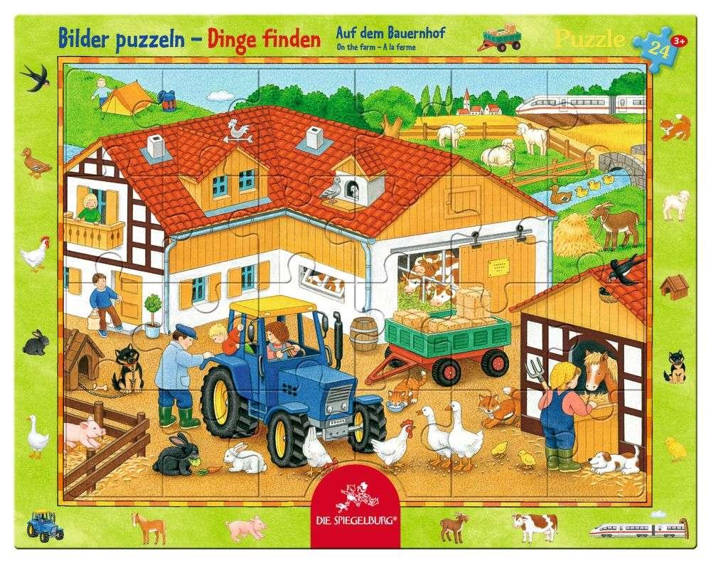 Rahmenpuzzle Auf dem Bauernhof (24 Teile) | Puzzle | Spiel | ZWERGE ...
