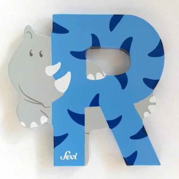Sevi Tierbuchstabe Rhinozeros R | Holzbuchstaben Kinderzimmer ...