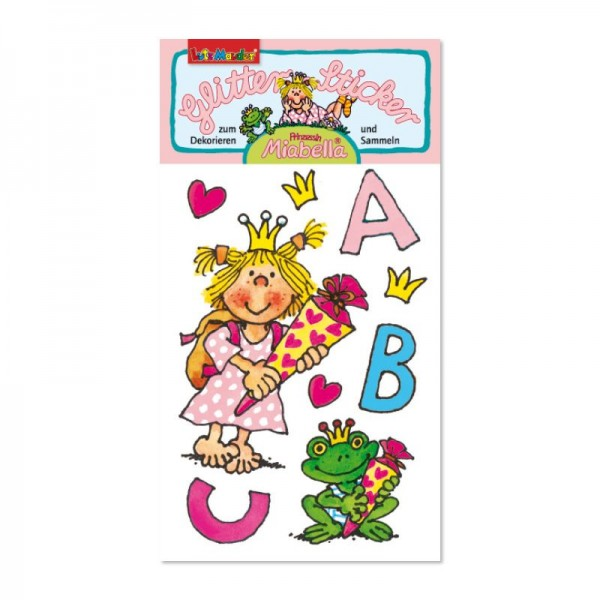 Glitter-Sticker Prinzessin Miabella Einschulung vom Lutz Mauder Verlag (1 Stück)