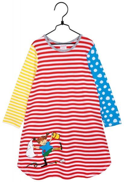 Nachthemd langarm Pippi Langstrumpf kunterbunt