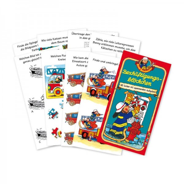 Beschäftigungsblöckchen Feuerwehr Benny Brandmeister vom Lutz Mauder Verlag