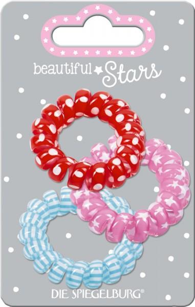 Haargummi Spirale no.1 beautiful Stars (3 Stück)