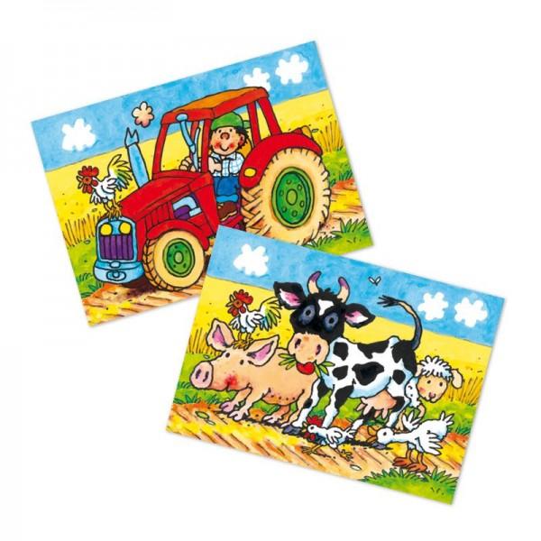 Wackelbild-Postkarte Bauernhof vom Lutz Mauder Verlag