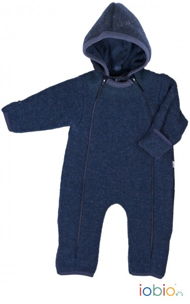 Baby Overall Wolle Fleece dunkelblau - iobio
