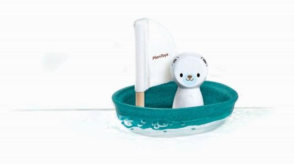Segelboot Eisbär aus Holz - PlanToys