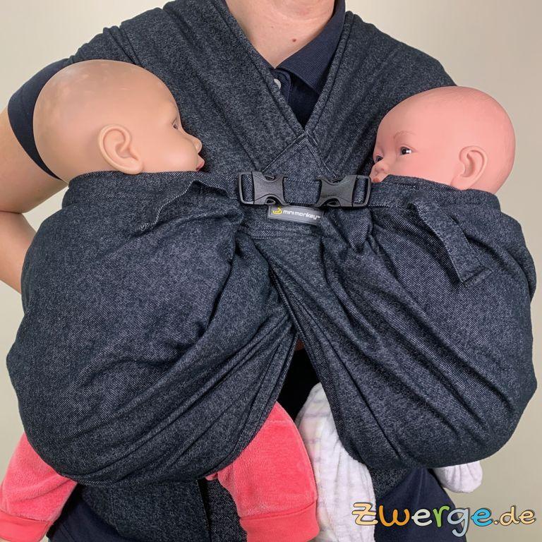 Zwillinge tragen mit dem Minimonkey TwinCarrier