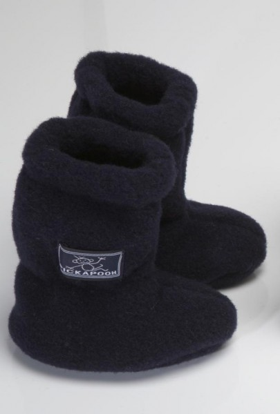 Pickapooh Stiefel Baby / Babyschuhe Wollfleece marine