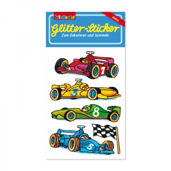 Glitter-Sticker Rennautos vom Lutz Mauder Verlag