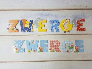 buchstaben kinderzimmer verschiedene designs bei zwerge