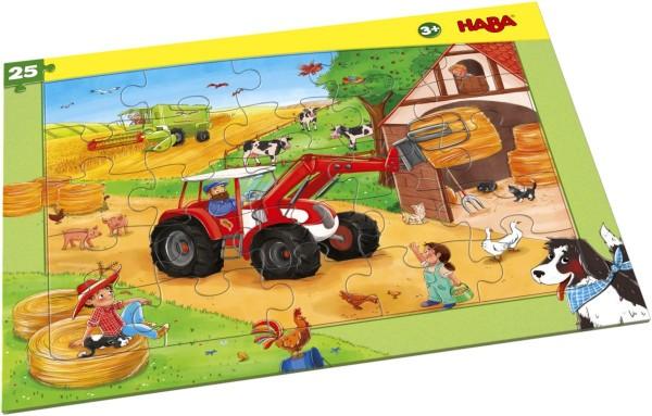 HABA Rahmenpuzzle Landmaschinen (25 Teile) 304655