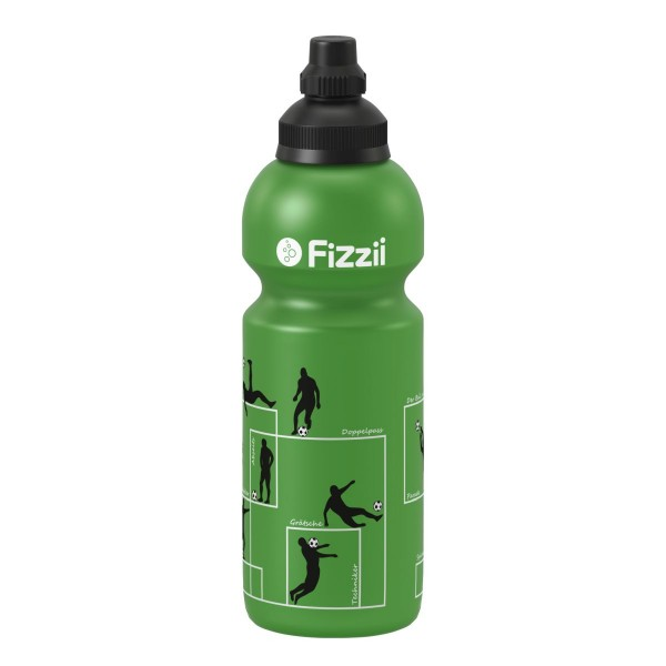 Fizzii Trinkflasche 600ml Fußball grün