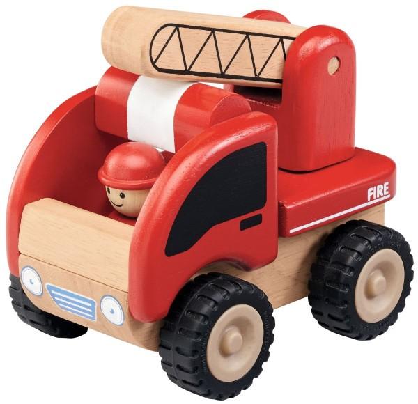 Feuerwehrauto Holz / Mini Feuerwehr Wonderworld mit Gummireifen WW4003