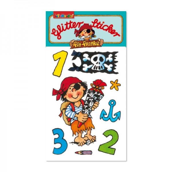 Glitter-Sticker Pirat Pit Planke Schulanfang vom Lutz Mauder Verlag (1 Stück)