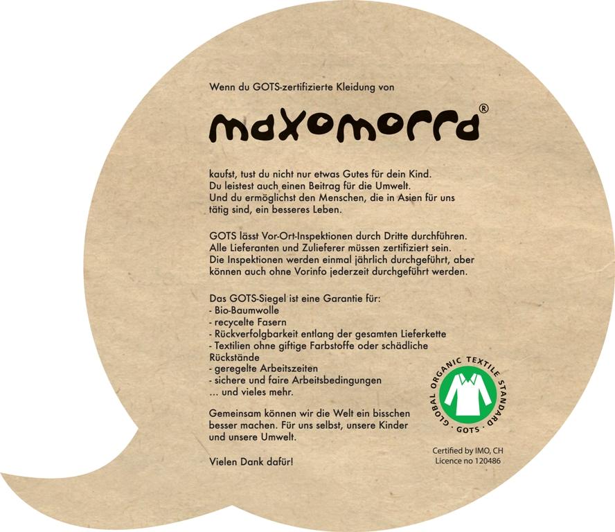 GOTS-zertifiziert Maxomorra