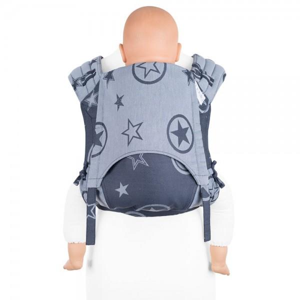 fidella tragetuch biobaumwolle anleitung tragetuch binden babytragetuch wickeltuch Fidella FlyClick Plus - Outer Space blue