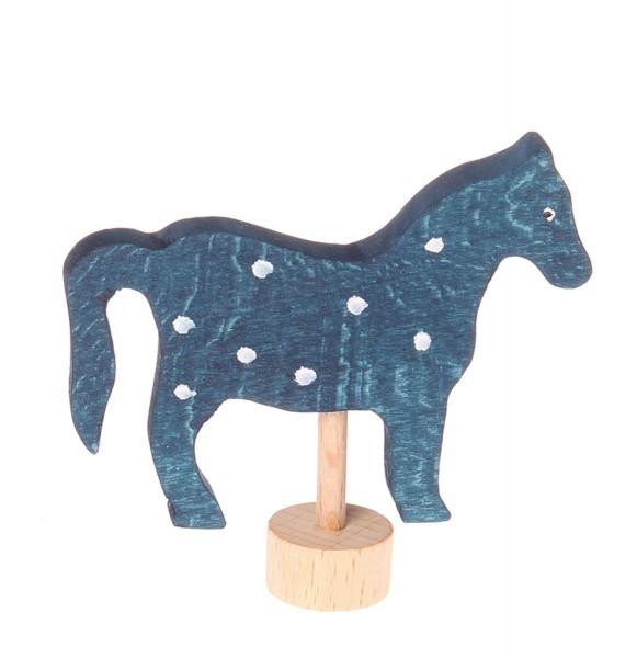Grimm`s Stecker blaues Pferd für Geburtstagsring