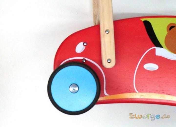 Lauflernwagen Holz Gummireifen ~   Zubehör Lauflernwagen Holz Hase Wonderworld bremsbar + Gummireifen